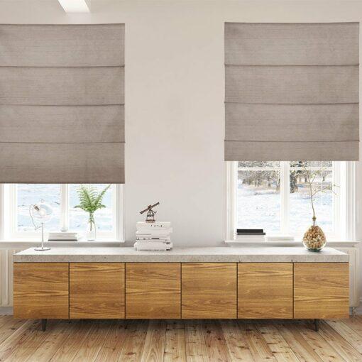roman blinds luxe bronze