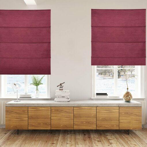 roman blinds luxe burgundy