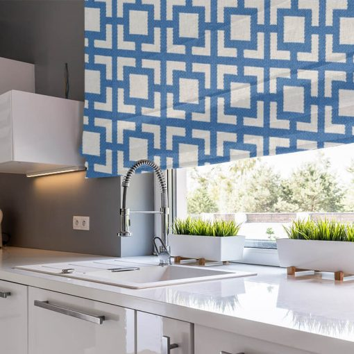 Mykonos Azure Ready Made Blinds Gorgeous Roman Blinds Online