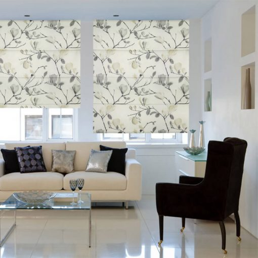 Sayuri Onyx Fabric Blinds Quality Affordable Rods And Blinds
