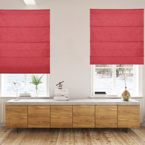 roman blinds luxe strawberry
