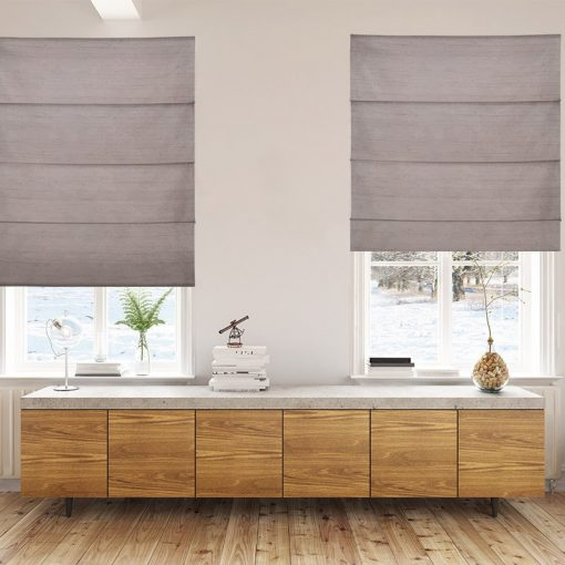 roman blinds luxe walnut