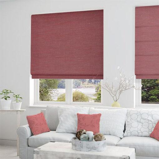 roman blinds nz silk road cherry