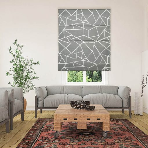 roman blinds polygon grey