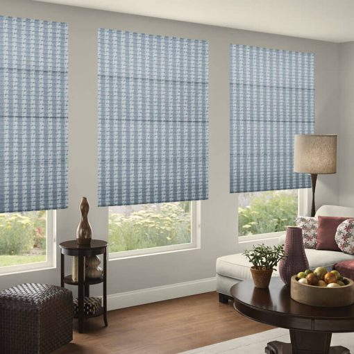 Trace Spray Roman Shades Online Deluxe Electric Blinds