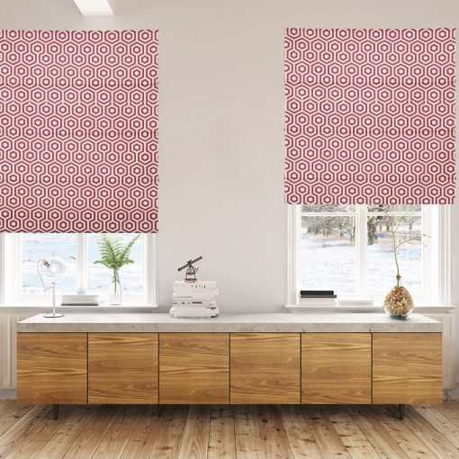 ready made blinds hexagon flame