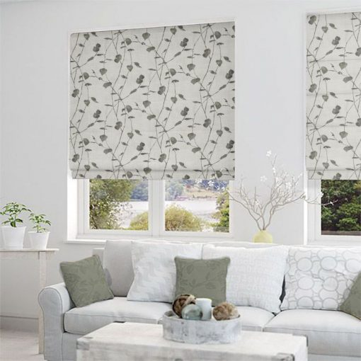 Linfield Charcoal Ready Made Blinds Gorgeous Roman