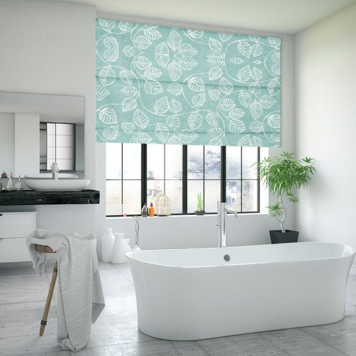 Vine South Pacific Roman Shades Deluxe Electric Blinds Nz