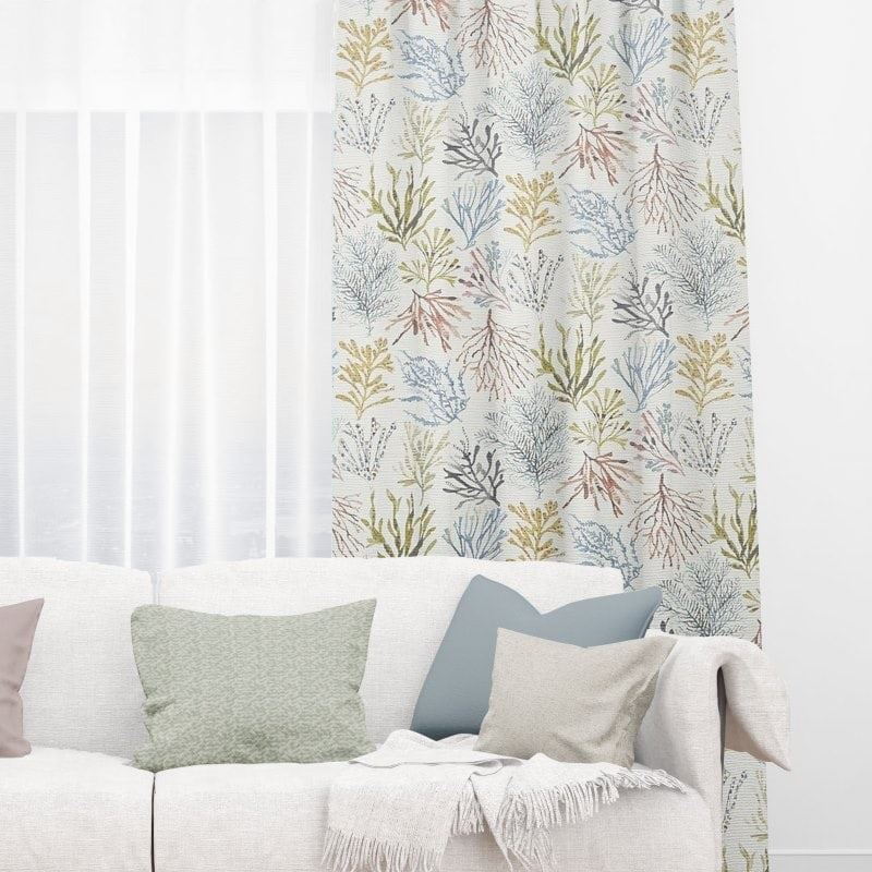 Coral Tropical Thermal Curtains Online Quality Curtain