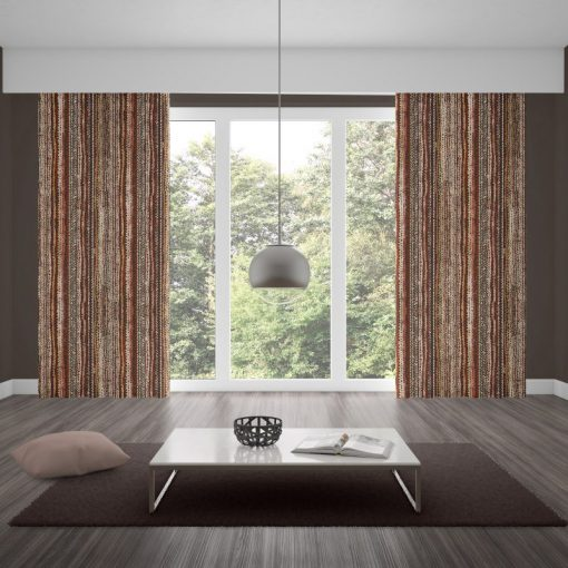 Kano Pomegranate Inverted Pleat Curtains Several Types