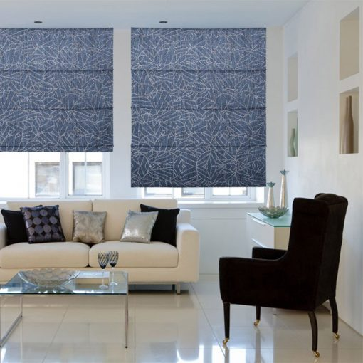 Laurel Denim Ready Made Blinds Gorgeous Roman Blinds Online