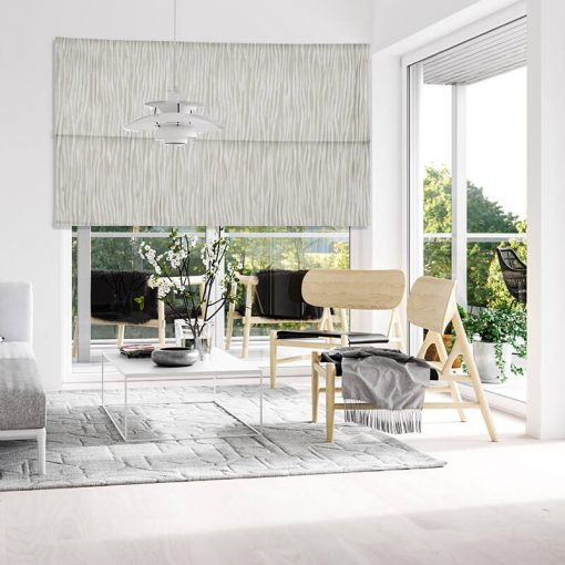 roman blinds fold silver gray