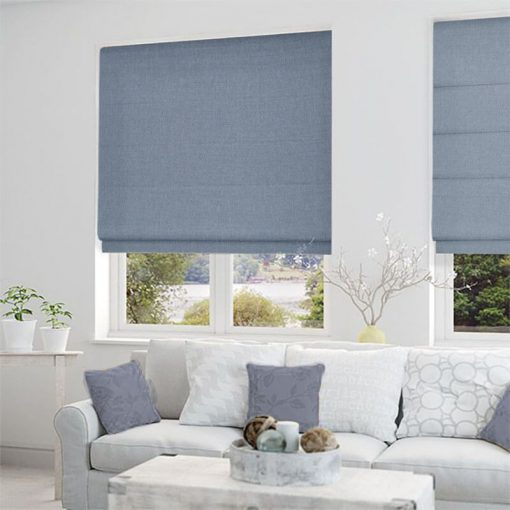 roman blinds structure denim