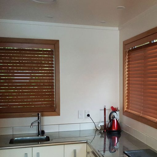 Kitchen Slat Blinds True Wood UV Honey