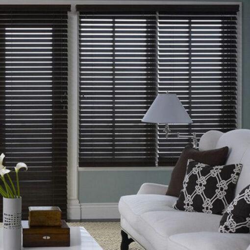 Wooden Slat Blinds True Wood UV Walnut