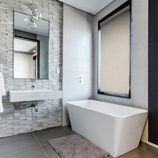 bathroom blinds nz shore white linen