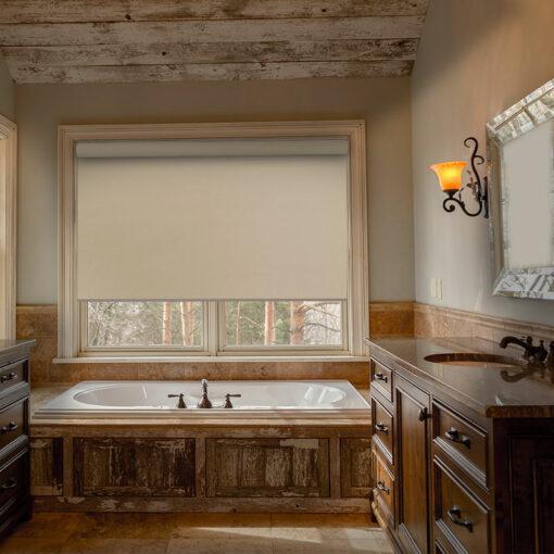 bathroom roller blind scribe linen