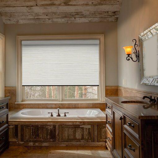 bathroom roller blinds avenue white thermal