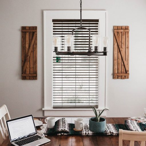 bedroom slat blinds true wood uv walnut