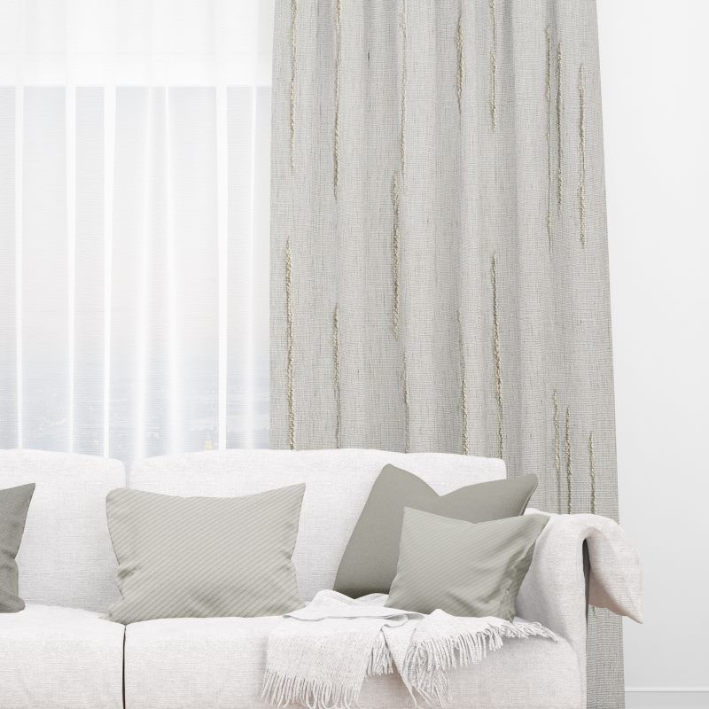 Tidal Cloud Ready Made Curtains Deluxe Striped Curtains