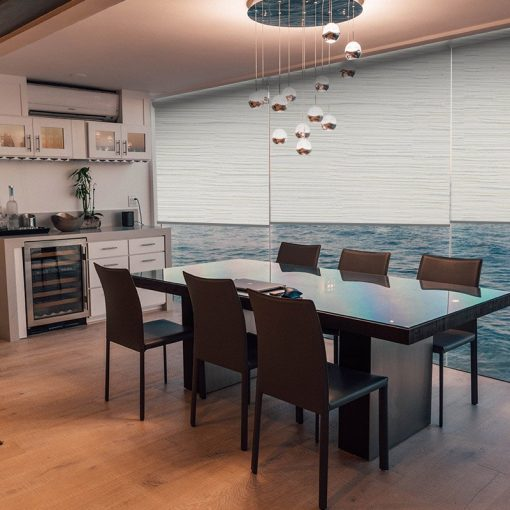 dining room roller blinds avenue white thermal