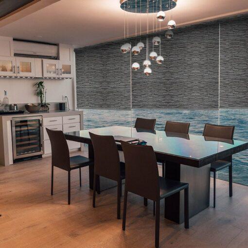dining room roller blinds lantra shale