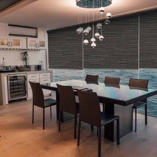 dining room roller blinds reve pewter