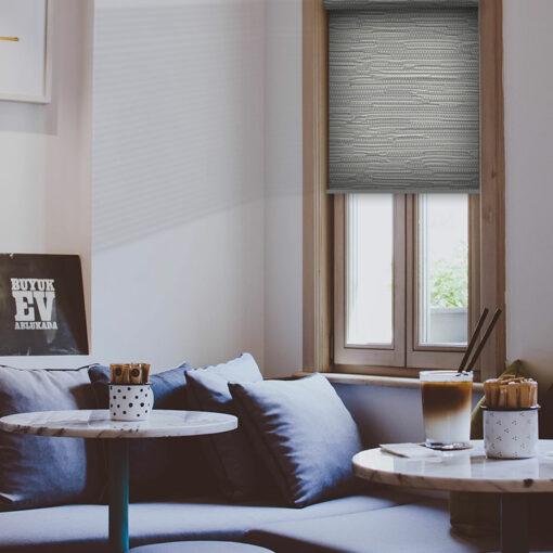 living room roller blinds reve concrete 1