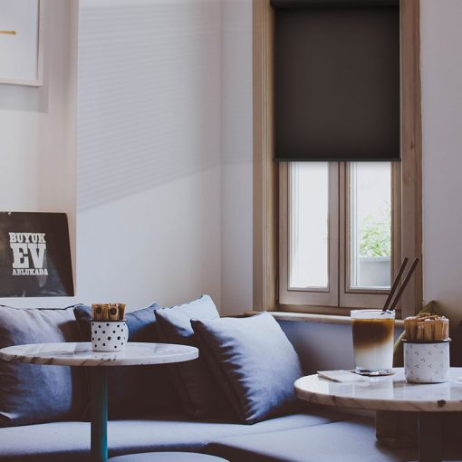 lounge roller blinds scribe umber