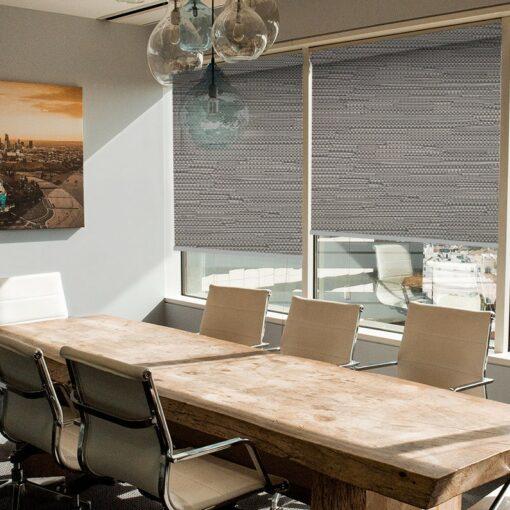 office roller blinds reve graphite