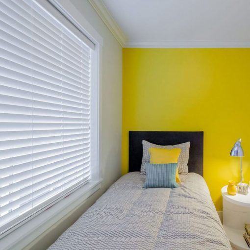 white slat blinds woodefex UV Snow White