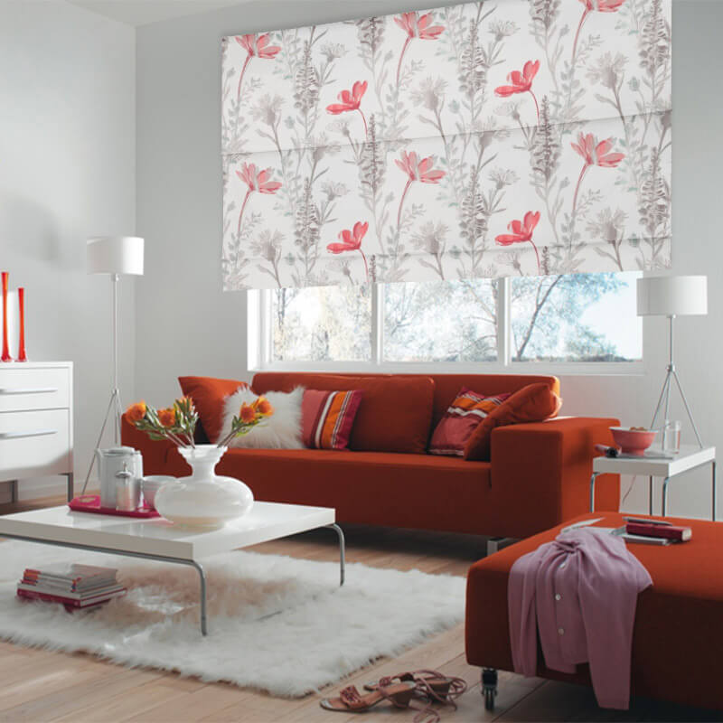 Bloom Cherry Window Treatments Enticing Floral Blinds Nz